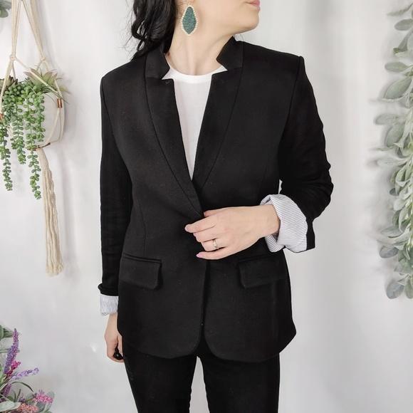 brand new 197e3 80dc4 GIBSON Notch Collar cotton blend blazer black 0943